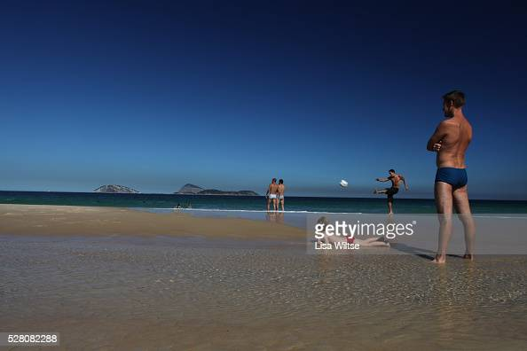 Locals and tourists spend the day on Ipanema beach in Rio de Janeiro Brazil on July 9 2010 Photo by Lisa Wiltse