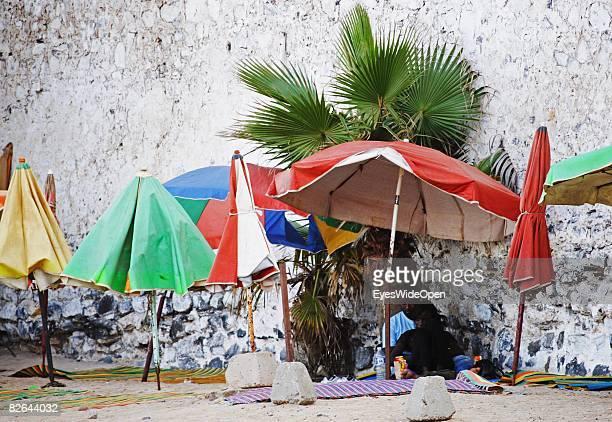 Locals at a beach on the Ile De Gore island on December 27 2007 near Dakar Republic of Senegal The Ile De Gore island is situated off the main...