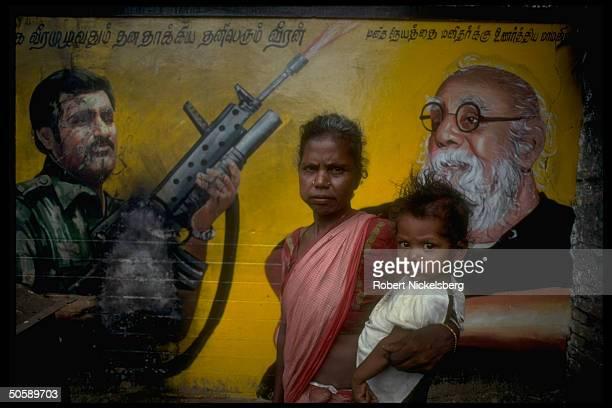 Locals by billbd depicting Prabakaran AK47armed Tamil Tiger rebel ldr
