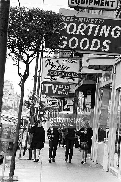 Locals enjoy a stroll in the HaightAshbury disctrict in San Francisco California in the early summer 1967