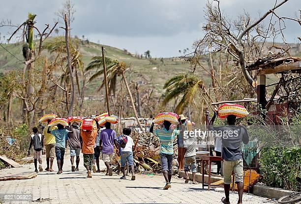 Locals near Port Salut Haiti on October 9 2016
