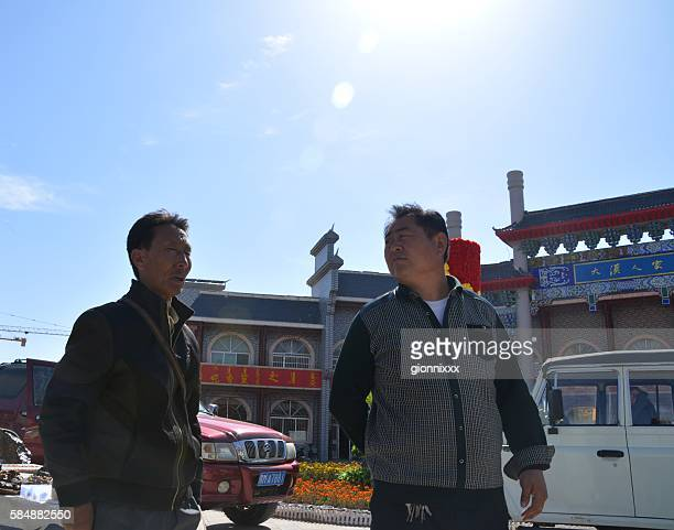 Locals under the sun in Alashan Youqi town, Inner Mongolia