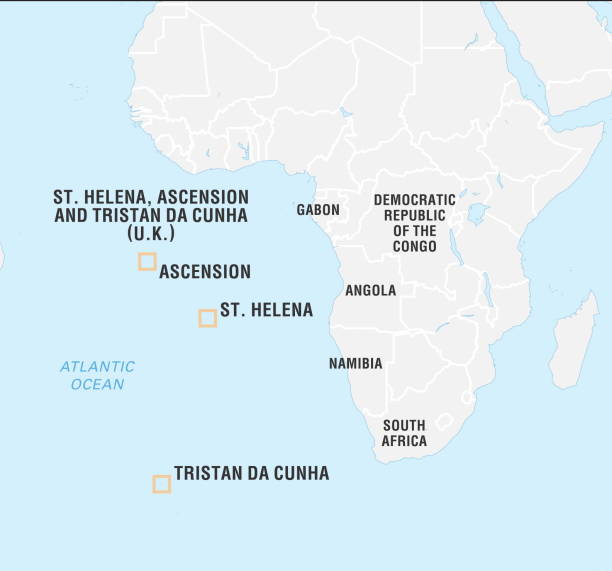 Locator Map Of Saint Helena Ascension And Tristan Da Cunha - Saint helena map