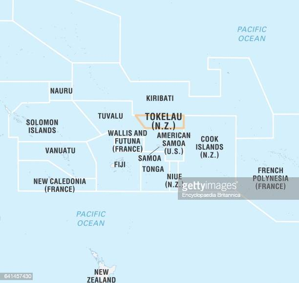 Tokelau Stock Photos And Pictures Getty Images - Tokelau map