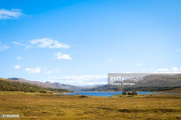 Loch Achall near Ullapool, Blue Sky, Scottish Highlands
