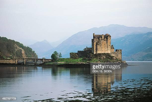 Loch Alsh and Eilean Donan castle Scotland United Kingdom