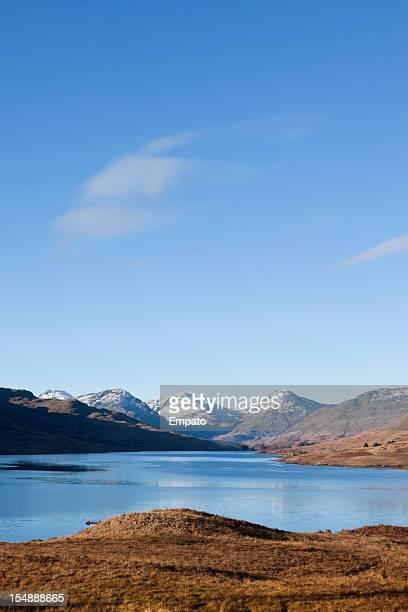 See Loch Arklet und Arrochar Alps, Trossachs, Schottland.