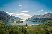 A view towards Loch Shiel in Glenfinnan Scotland.