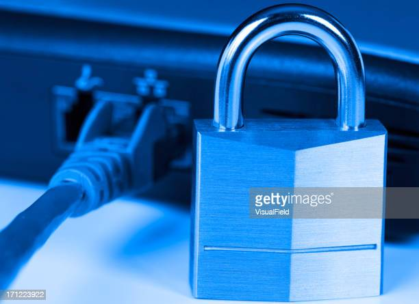 Lock and cord symbolizing data security