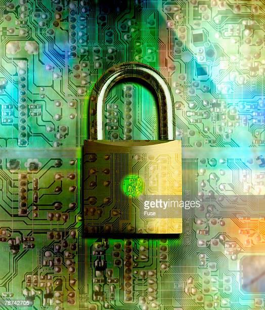 Lock on Computer Chip