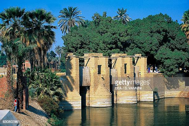Lock on the canal that carries water from the Nile river Al Fayyum Egypt