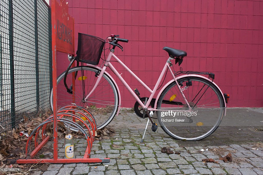 Apartment Building Bike Rack germany - berlin - bike rack and dog faeces pictures | getty images