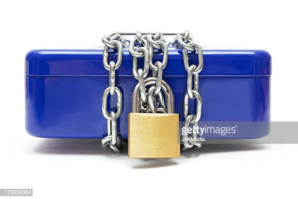 Locked Blue Cash Box