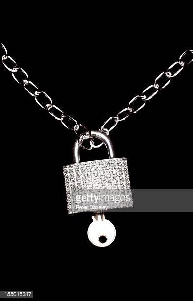 Locked diamond padlock