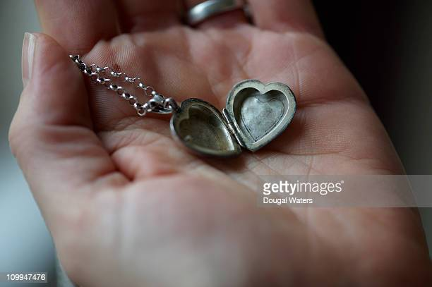 Locket in palm of hand