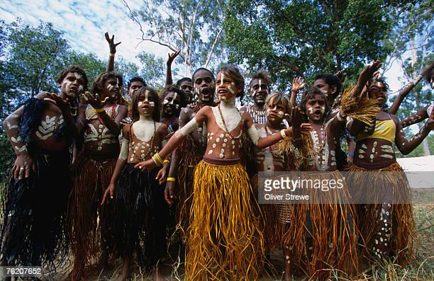 Lockhart River state school dance troupe, Cape York Peninsula, Queensland, Australia, Australasia