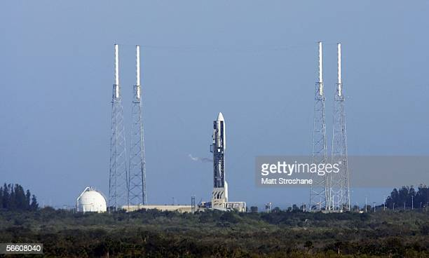 Lockheed Martin Atlas V rocket sits on pad 41 carrying NASA's Pluto New Horizons spacecraft at the Kennedy Space Center January 17 2006 in Cape...