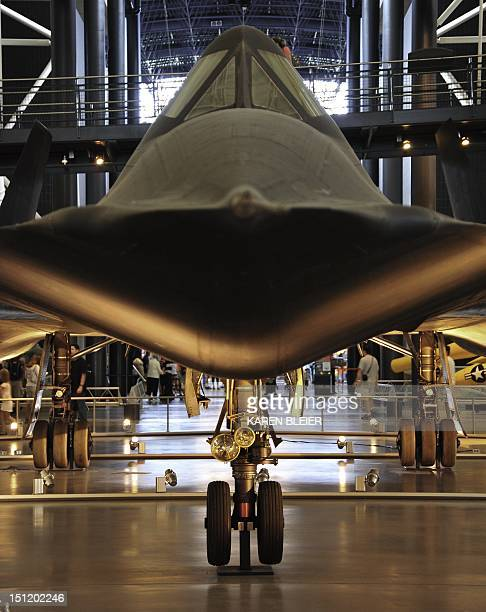 Lockheed Martin's SR71 Blackbird is seen September 3 2012 at the National Air and Space Museum's Steven F UdvarHazy Center in Chantilly Virginia AFP...