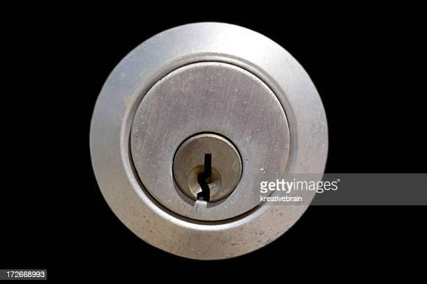 Lock/Keyhole on Black