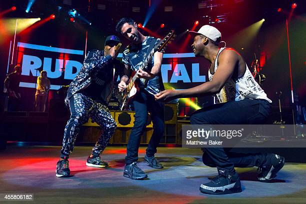 DJ Locksmith Amir Amor and Kesi Dryden of Rudimental perform as part of the iTunes Festival at The Roundhouse on September 20 2014 in London England