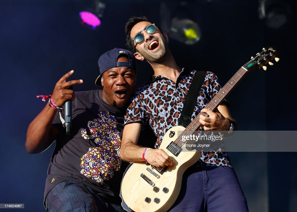 DJ Locksmith and Ami Amor of Rudimental perform live on stage on Day 1 of the Lovebox festival at Victoria Park on July 19, 2013 in London, England.
