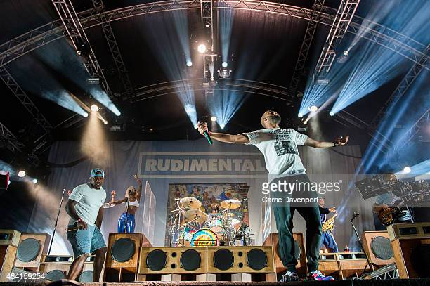 Locksmith and Amir Amor of Rudimental perform onstage at Custom House Square on August 15 2015 in Belfast Northern Ireland