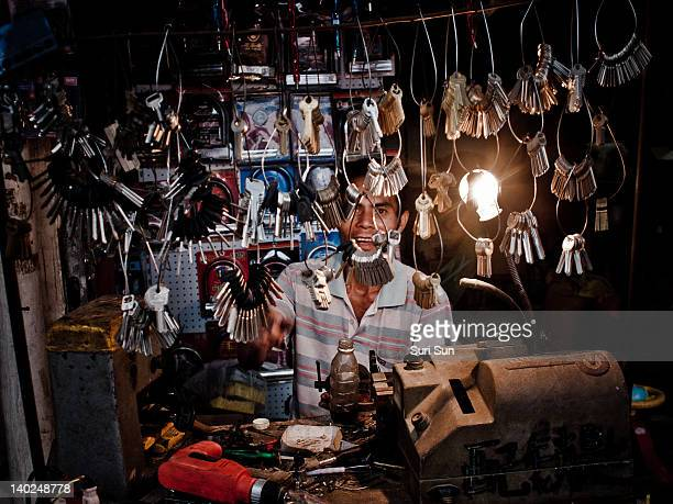 Locksmith in shop