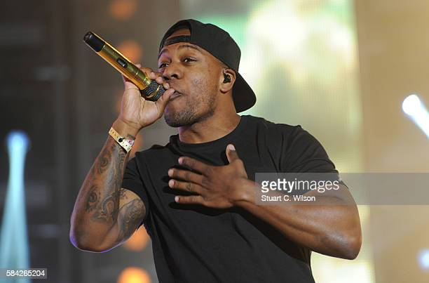 Locksmith of Rudimental performs during 'MTV Crashes' at Plymouth Hoe on July 28 2016 in Plymouth England