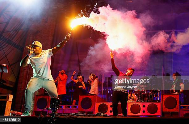 Locksmith of Rudimental performs live on the Main Stage during day one of Lovebox Festival 2015 at Victoria Park on July 17 2015 in London England