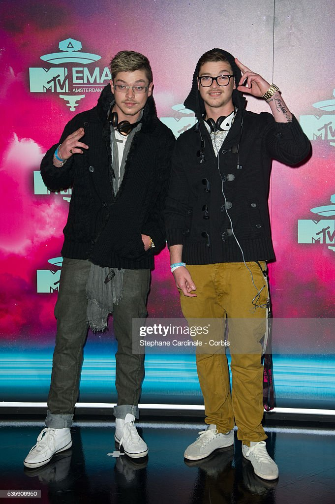 Locnville attend the MTV EMA's 2013 at the Ziggo Dome in Amsterdam, Netherlands.