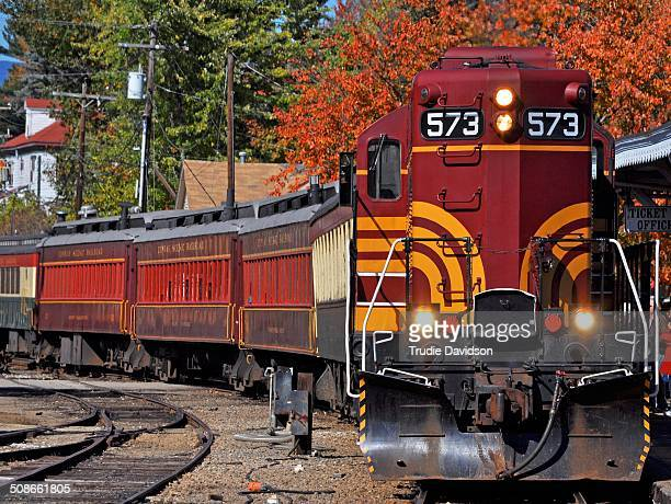 Locomotive at North Conway Scenic Railway NH USA