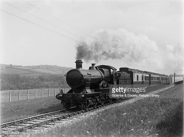 GWR locomotive no 3453 'Seagull' at Landkey Great Western Railway 440 Bird Class locomotive no 3453 'Seagull' up express at Westcott Lane Landkey...