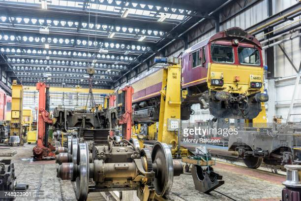 Locomotives in train works