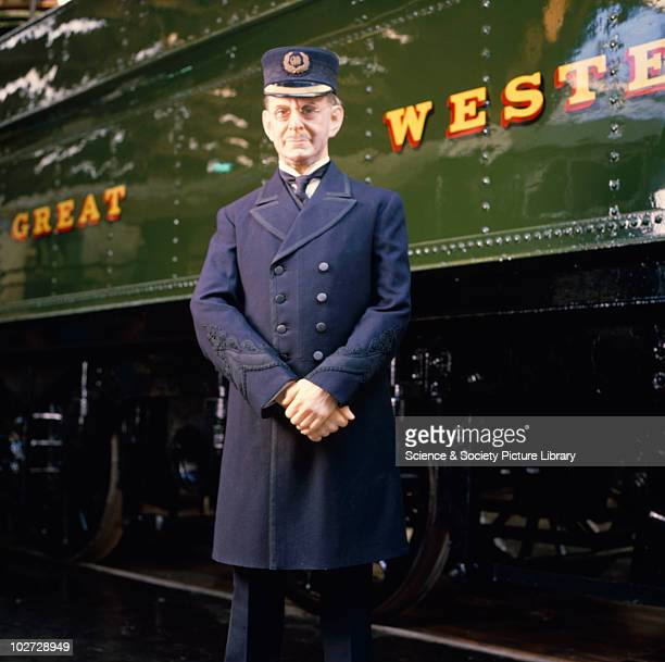'Lode Star' 460 steam locomotive No4003 Lode Star' 460 steam locomotive No4003 1907 and mannequin wearing Stationmaster's uniform in the Great Hall...