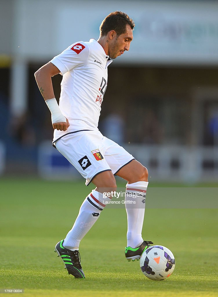 Lodi Francesco of Genoa in action during a Pre Season Friendly between West Bromwich Albion and Genoa at the New Bucks Head Stadium on August 1, 2013 in Telford, England.