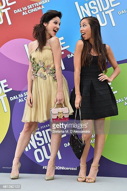 Lodovica Comello and Tess Masazza attend Giffoni Film Festival 2015 photocall on July 18 2015 in Giffoni Valle Piana Italy