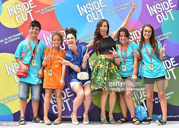 Lodovica Comello and Tess Masazza pose with the jurors during Giffoni Film Festival 2015 photocall on July 18 2015 in Giffoni Valle Piana Italy