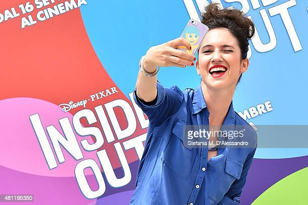 Lodovica Comello attends Giffoni Film Festival 2015 photocall on July 18 2015 in Giffoni Valle Piana Italy