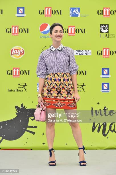Lodovica Comello attends Giffoni Film Festival 2017 Day 4 Photocall on July 17 2017 in Giffoni Valle Piana Italy