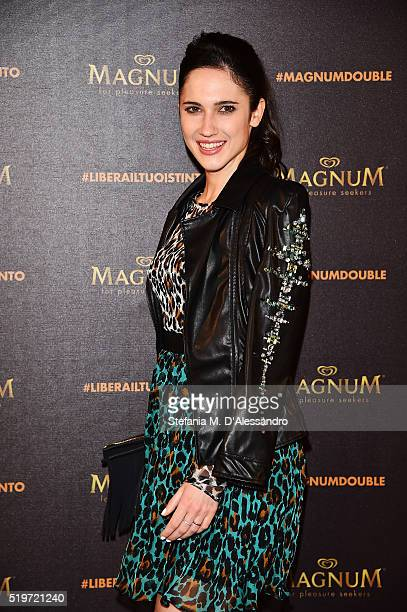 Lodovica Comello attends 'Libera Il Tuo Istinto' Party by Magnum on April 7 2016 in Milan Italy
