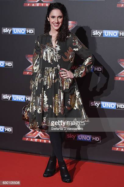 Lodovica Comello attends 'X Factor X' Tv Show Red Carpet on December 15 2016 in Milan Italy