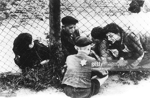 Lodz Ghetto Poland World War II 19401944 The Nazis forced Jews into overcrowded ghettos from which thousands were deported to the death camps
