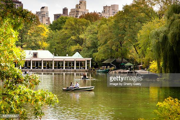 Loeb boathouse and boaters