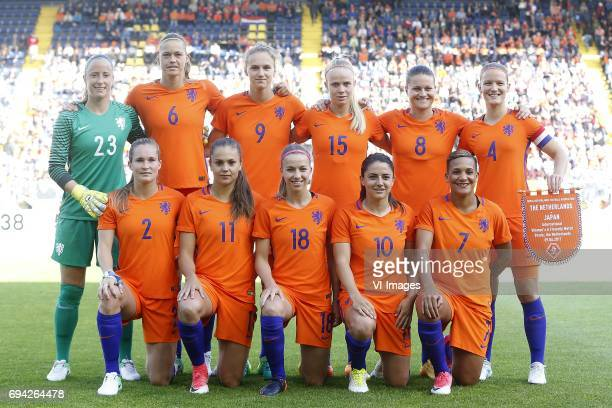 Loes Geurts of the Netherlands Anouk Dekker of the Netherlands Vivianne Miedema of the Netherlands Kika van Es of the Netherlands Sherida Spitse of...