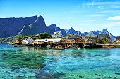 Beautiful fishing village on Lofoten islands, Norway