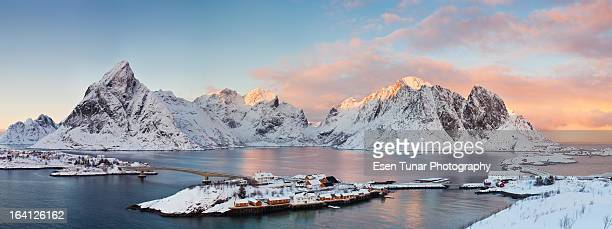 Lofoten Islands Winter Panorama