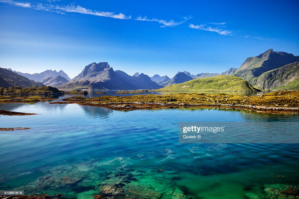 Lofoten, Landscape, Ramberg, Norway : Stock Photo