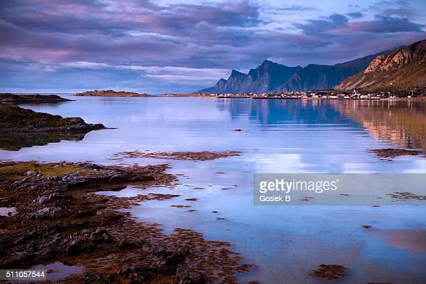Lofoten, paesaggio, Ramberg, Norvegia