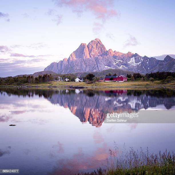 Lofoten Norway mountain Glomtinden beauty nature