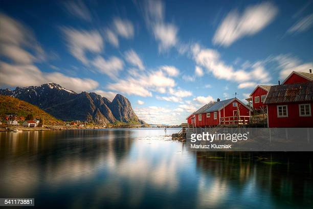 Lofoten Reine Fishing village red houses